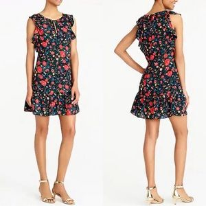 J. Crew floral flutter sleeve dress